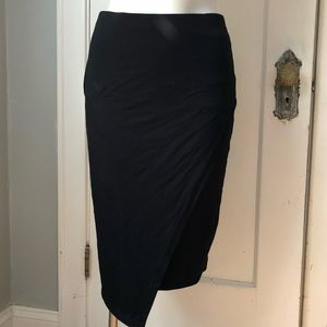 VINCE CAMUTO Skirt Size XS Black Layered Detail